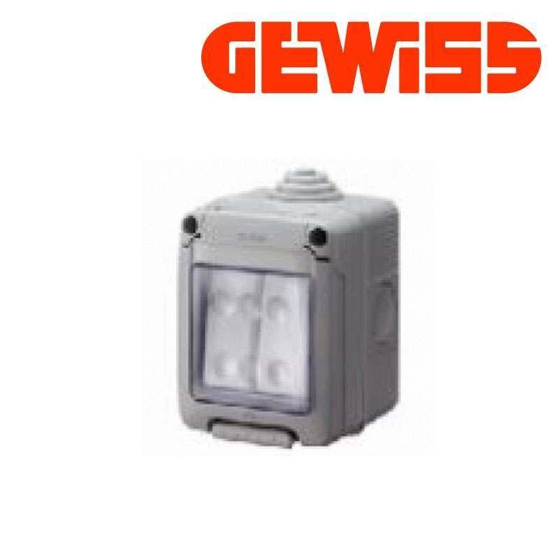 gewiss weatherproof switch ip55 2 gang expertelectrical. Black Bedroom Furniture Sets. Home Design Ideas