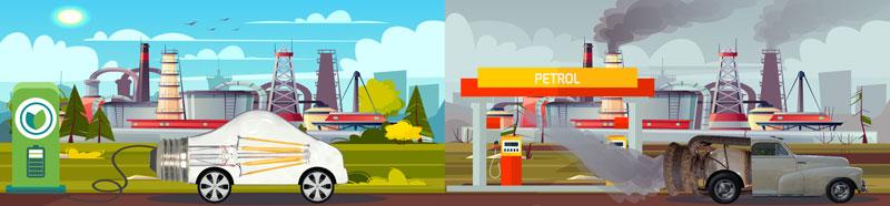 LED Vehicle vs Oil Lantern