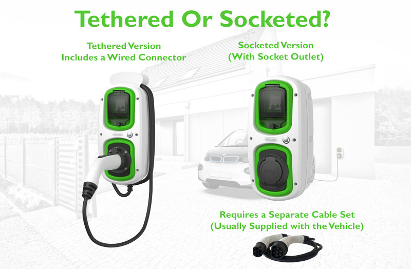 Tethered or Socket EV Charge point
