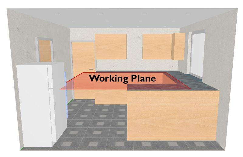 working plane